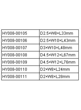 HY MODEL ACCESSORIES HY FLAT PIN HINGE 3 x 10 x 48 ( 15pk )<br />