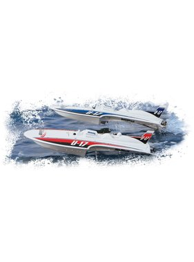 AQUACRAFT AQUACRAFT MINI THUNDER RTR BOAT BRUSHED