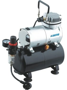 HSENG  AIR COMPRESSOR  PISTON TYPE OIL-LESS HS AS186 WITH 3.0 lt TANK