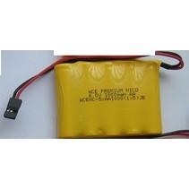 ACE PREMIUM NICD 6.0V 1000mah AA RX BATTERY PACK WITH BLACK JR PLUG