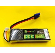 LION POWER - TIGER POWER LIPOS LION POWER LIPO 20C 11.1V 1300mAh READ SAFETY WARNING BEFORE USE 93.4 X 28.3 X 16.1mm 85gr<br />FITTED WITH EC3
