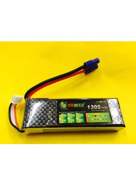LION POWER - TIGER POWER LIPOS LION POWER LIPO 20C 11.1V 1300mAh READ SAFETY WARNING BEFORE USE 93.4 X 28.3 X 16.1mm 85gr<br />