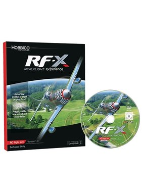 HOBBICO RF-X Software Only Version<br /> Experience the ultimate in RC simulation ( real flight ) 2017 <br />  ( NO FURTHER DISCOUNT )