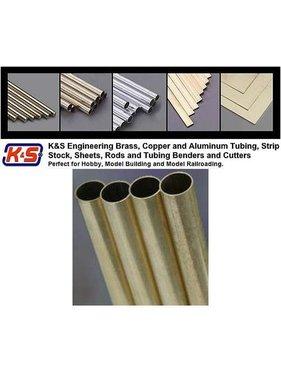 """K&S K & S LARGE ALUMINIUM TUBE  3/16 + 7/32 + 1/4 X 12"""" 3 PCS 3 SIZES"""
