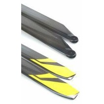 ROTORTECH 610mm CARBON BLADES 50 SIZE YELLOW RED & BLACK