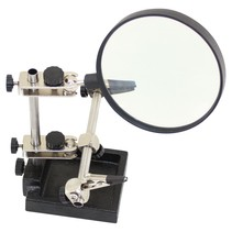 WES HELPING HANDS WITH LARGE 90mm  MAGNIFYING GLASS BOXED