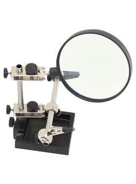 ENKAY WES HELPING HANDS WITH LARGE 90mm  MAGNIFYING GLASS BOXED