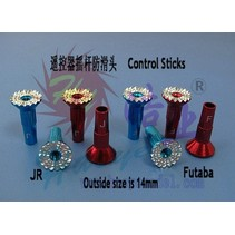 HY CONTROL STICKS MUSHROOM TYPE JR SPEKTRUM  13MM<br />