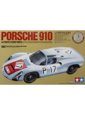 HASEGAWA Porche 910 W/Photo Etched Parts 1/12 Scale