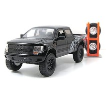 JADA 1/24 2011 FORD RAPTOR F-150 SVT DIECAST WITH EXTRA WHEELS DIECAST