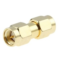 Gold Plated SMA Male to SMA Male Adapter