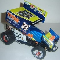 R&R 2008 DARYN PITTMAN TITAN RACING 1/18 DIECAST SPRINT CAR