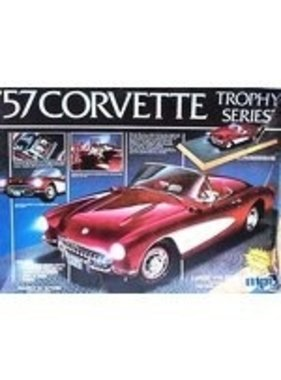 MPC MPC 57 CORVETTE TROPHY  SERIES LARGE 1/16 SCALE REQUIRES 2 AA BATTERIES (NOT INCLUDED) WORKING HEADLIGHTS,TAILLIGHTS, CARPETED INTERIOR DISPLAY BAS WIRING  1-3041