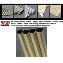 "K & S SMALL ALUMINIUM ROD 3/32 + 1/8 X 12"" 4PCS 2 SIZES BENDABLE"