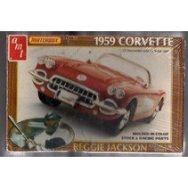 1/25   PK-4183   AMT   Chevrolet 1959 Fuel Injection Corvette Reggie Jackson Collection Issue<br />NIB   Injection Molded   old