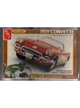 AMT 1/25   PK-4183   AMT   Chevrolet 1959 Fuel Injection Corvette Reggie Jackson Collection Issue<br />NIB   Injection Molded   old