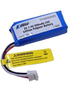 EFLITE EFLITE 200MAH 2S 7.4V 25C LIPO FOR UMX SBACH/STRYKER EFLB2002S25