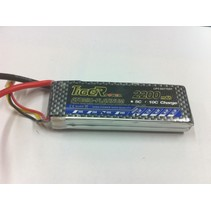 TIGER POWER LIPO 45c 7.4v 2200mah 18x34x110mm  124gr SOLD WITH DEANS CONNECTOR