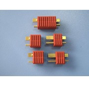 HY MODEL ACCESSORIES HY T PLUG WITH FULL GRIP U/GOLD PLUG M &amp; F ( 4 PAIRS  )<br />
