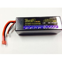 LION POWER LIPO 45C 11.1v 4500mah HARD CASE 40x47x139mm  377gr FITTED WITH DEANS PLUG