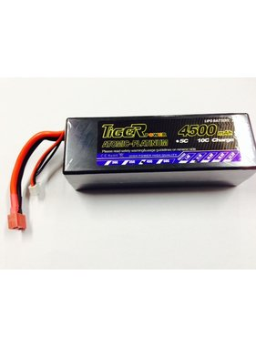LION POWER - TIGER POWER LIPOS LION POWER LIPO 45C 11.1v 4500mah HARD CASE 40x47x139mm  377gr FITTED WITH DEANS PLUG