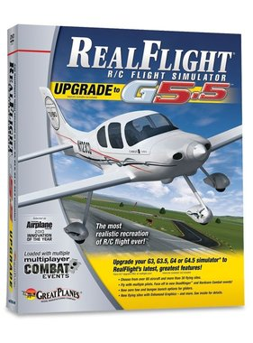 GREAT PLANES GREAT PLANES NOW $59.00 REALFLIGHT G5.5 UPGRADE FROM 3.0- 4.5 VERSIONS