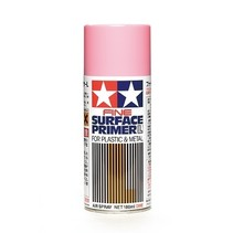 TAMIYA PINK FINE SURFACE PRIMER FOR PLASTIC AND METAL. USE AS UNDERCOAT FOR RED PAINT
