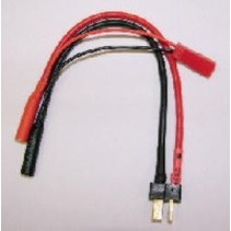 SJ ADAPTOR HARNESS FOR ADAPTOR BOARDS WITH DEANS CONNECTORS FOR LCB 6 CHARGER