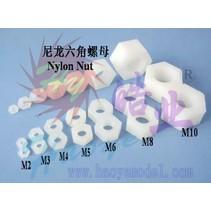 HY NYLON NUTS M3 D5.5 X H2.5mm ( 10 PK )<br />( OLD CODE  HY091502 )