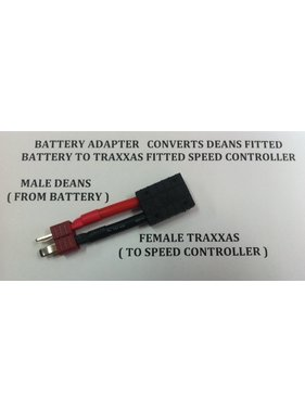 ACE IMPORTS ACE ADAPTER DEANS BATTERY TO TRAXXAS DEVICE