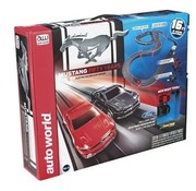 AUTO WORLD Auto World Mustang 50th Anniversary Race Set 16ft CHOICE OFF ANY 2 AUTOWORLD CARS