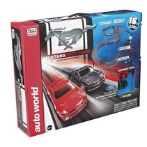 Auto World Mustang 50th Anniversary Race Set 16ft CHOICE OFF ANY 2 AUTOWORLD CARS