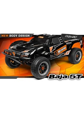HPI HPI BAJA 5T DESERT TRUCK WITH 26cc MOTOR   & TUNED PIPEBLACK  INCLUDES  RX CHARGER  2.4 ghz