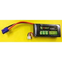 LION POWER LIPO 20C 11.1V 1300mAh READ SAFETY WARNING BEFORE USE 71.85 X 33.84.5X18.9mm 85gr<br />