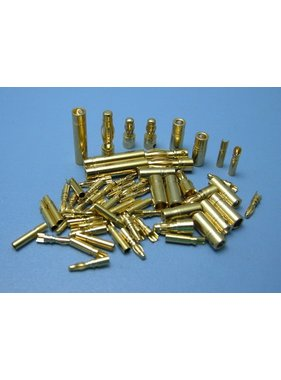 HY MODEL ACCESSORIES HY GOLD CONTACTS 6mm  MALE &amp; FEMALE ( 3 Pairs )<br />(OLD CODE HY211406 )