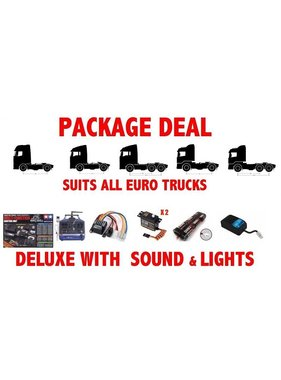 ACE RADIO CONTROLLED MODELS PACKAGE DEAL 8 FOR TAMIYA TRUCKS WITH MFC-03 LIGHT AND SOUND