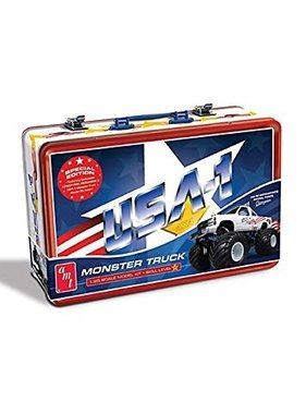 AMT AMT USA-1 MONSTER TRUCK KIT WITH COLLECTIBLE METAL LUNCH BOX