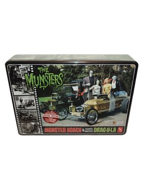 AMT AMT THE MUNSTERS KOACH & GRANDPA MUNSTERS DRAG-U-LA  1/25 SCALE KIT SPECIAL EDITION IN TIN BOX