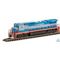ATLAS GE Dash 8-40C w/DCC - Master(R) -- Ferrocarriles Nacionales de Mexico FNM #15014 (2-Tone Blue, orange, white)