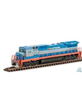 ATLAS ATLAS GE Dash 8-40C w/DCC - Master(R) -- Ferrocarriles Nacionales de Mexico FNM #15014 (2-Tone Blue, orange, white)
