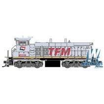 ATLAS EMD MP15DC Square Air Filter Box - Standard DC -- Transportacion Ferroviaria Mexicano TFM #1034 (gray, red)