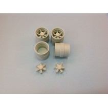 AUSLOWE RIM REAR STANDARD DRIVE DUELS 6 SPOKE TANDEM AXLE SET 1/25