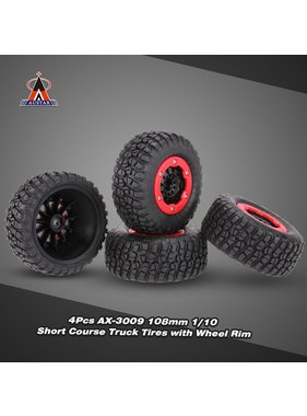 AUSTAR AUSTAR AX-3009 High Performance 108mm 1/10 Short Course Truck Tires with Wheel Rim for All Terrain