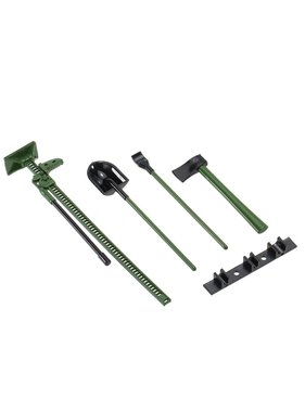 AUSTAR AUSTAR 4PCS RC Decoration Tools Set Kit RC Accessories for 1:10 RC Rock Crawler green