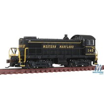 BACHMANN Alco S4 Switcher - DCC -- Western Maryland #145 (black, Speed Lettering)