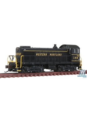 BACHMANN BACHMANN Alco S4 Switcher - DCC -- Western Maryland #145 (black, Speed Lettering)