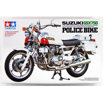 Tamiya 1/12 Scale Model Motorcycle Kit Suzuki GSX750 Police Bike