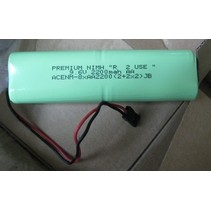 "PREMIUM NIMH ""R  2 USE "" 9.6V 2200mah AA     LOW DISCHARGE CELLS  CHARGED TO 50% CAPACITY"