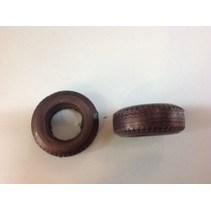 AUSLOWE BLACK RUBBER SUPER SINGLE TYRE PAIR 1/25