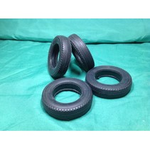AUSLOWE BLACK RUBBER TYRE SET OF 2 1/16